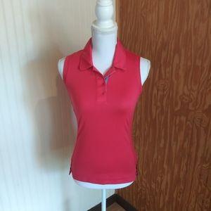 Adidas Golf Sleeveless Polo Shirt Clima Cool